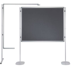 Stellwandtafel Whiteboard/Filz 90x120cm grau