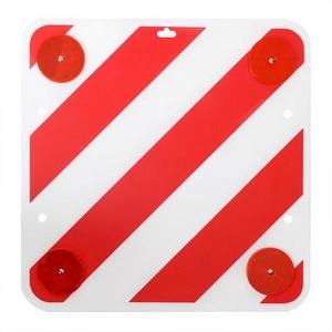 Sonderlasten-Warntafel Kunststoff mit Rückstrahlern, 50x50cm