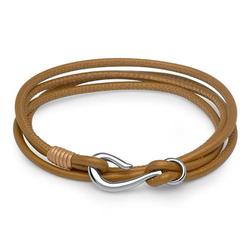 Armband aus hellbraunem Leder