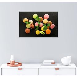 Posterlounge Wandbild, Bunte Macarons 150 cm x 100 cm