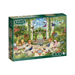 Falcon Puzzle 11255 Debbie Cook Schmetterlingskonservatorium, 1000 Puzzleteile