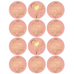 12 Sticker Schön, dass Du da bist Aufkleber zum Danke sagen für Gastgeschenk Geschenkdeko rosé