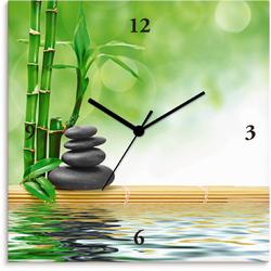 Artland Wanduhr Spa Konzept Zen Basaltsteine