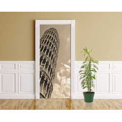 Bilderdepot24 Deco-Panel, Türaufkleber - schiefer Turm von Pisa