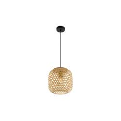 Globo Lighting Pendelleuchte Mirena mit Bambusschirm, 23 cm