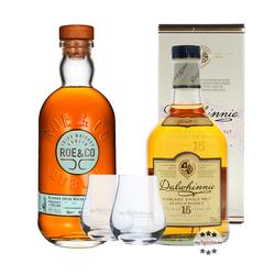 Best Whisky & Whiskey: Dalwhinnie 15 & Roe & Co + 2 Nosing-Gläser gratis!