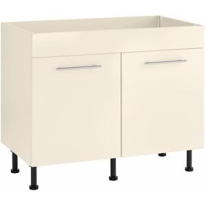 wiho Küchen Spülenschrank Ela Breite 100 cm weiß
