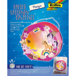 Folia Laterne Laternen-Bastelset Pony, inkl. Deko-Licht