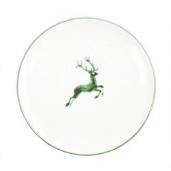 Gmundner Keramik Grüner Hirsch Dessertteller / Frühstücksteller Cup d: 20 cm / h: 2,6 cm Grüner Hirsch 0324TDCU20