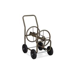 relaxdays Gartenschlauch Schlauchwagen XL Metall