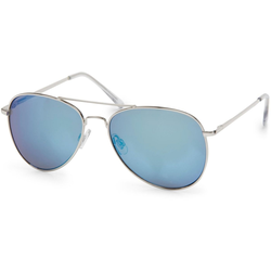 styleBREAKER Sonnenbrille Verspiegelte Piloten Sonnenbrille Verspiegelt silberfarben
