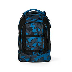 Satch Pack Schulrucksack Blue Triangle, blaue Dreiecke