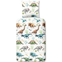 Kinderbettwäsche Dino, good morning, mit Dinos weiß 1 St. x 135 cm x 200 cm