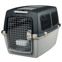 Transportbox Hund Gulliver, IATA Flugbox, Gulliver 5: 79x60x58 cm, dunkelgrau/hellgrau