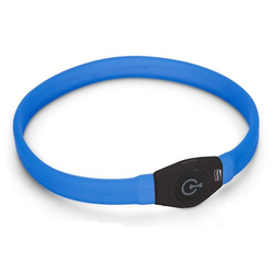 Halsband LED Langhaar blau Visio Light für langhaarige Hunde