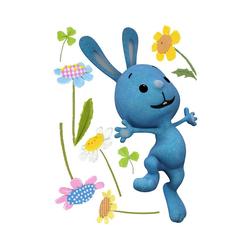 KiKANiNCHEN Wandtattoo Wandtattoo KIKANINCHEN, Blumen, 8 tlg. blau