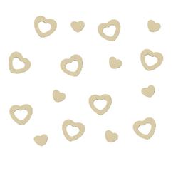 Herz Konfetti Tischdeko Liebe Romantik Hochzeitsdeko - creme
