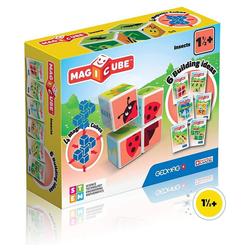 Geomag™ Magnetspielbausteine Magicube Insekten, 4 Magnetwürfel, magnetische Würfel, Würfelpuzzle