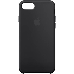 Apple Silicone Case Backcover iPhone SE (2. Generation), iPhone 8, iPhone 7 Schwarz