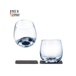 SILWY Gläser-Set SILWY Kristallgläser 2er-Set 2 Metall-Nano-Gel-Pads Whisky Gläser Anti-Rutsch, Glas