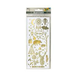 Folia Sticker Relief-Sticker Weihnachten, 10 Blatt