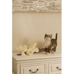 Dekofigur »Katze«, Dekofiguren, 15129908-0 grau 33x26,5x11,5 cm grau