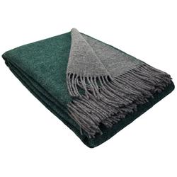 Wolldecke Wolldecke TIROL (doubleface) aus 100% Schurwolle, STTS grün