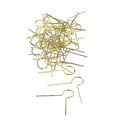 Aufhänger, gold, 100 Stück