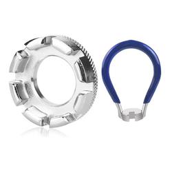 kueatily Speichenschutzblech Fahrrad-Speichenschlüsseleisen, Größe 10-15 Universal-Speichenschlüssel für Fahrrad, leichtes Elektrofahrzeug, Speichenschlüssel-Werkzeug