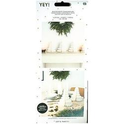 Wabenpapier Tannenbäume  Weiß