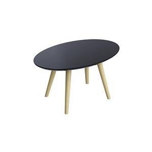 PAPERFLOW Beistelltisch SCANDI schwarz oval