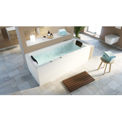 Emotion Whirlpool-Badewanne Deluxe Whirlpool Set OMEGA ULTRA 170 mit LED-Beleuchtung 170x75x59,5 cm