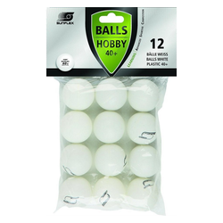 Sunflex Tischtennisball 12 x Tischtennisbälle 40+ Hobby weiß