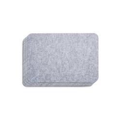 AMARE Becheruntersetzer Filzuntersetzer, 45 x30 cm, 4er-Set, Untersetzer, 1-tlg., Kunststoff grau