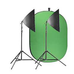 Walimex Pro Video Greenscreen Set Einsteiger flexi
