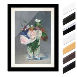 Bilderdepot24 Wandbild, Édouard Manet - Blumen in einer Kristallvase bunt 60 cm x 80 cm