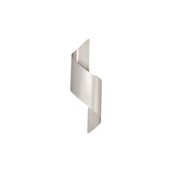 Fabas Luce LED-Wandleuchte Fanes in silbergrau