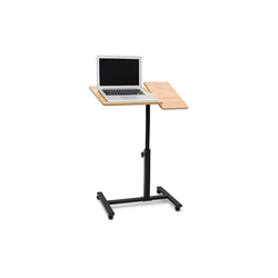 relaxdays Laptoptisch Laptoptisch höhenverstellbar Holz natur