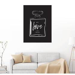 Posterlounge Wandbild, Liebes Parfüm 70 cm x 90 cm