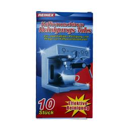 Reinex Reinigungs-Tabs, Zur regelmäßigen Reinigung und Pflege von Kaffeevollautomaten, 1 Packung = 10 Tabs