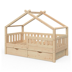 VitaliSpa® Kinderbett Design 160x80 Babybett Jugendbett 2 Schubladen Lattenrost