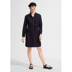 Comma Minikleid Popeline-Kleid mit Bindegürtel 46