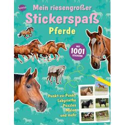 Mein riesengroßer Stickerspaß. Pferde als Buch von Mel Plehov