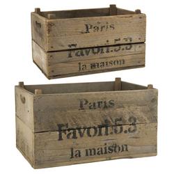 Ib Laursen Holzkiste 2 Holzkisten Alt Holz Kiste Box Holzbox Paris 2er Kisten Set Ib Laursen 5256 14
