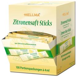 Hellma Zitronensaft Sticks zum verfeinern Portionspackung 100 Stück