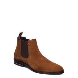 Tommy Hilfiger Signature Hilfiger Suede Chelsea Shoes Chelsea Boots Braun TOMMY HILFIGER Braun 41,44,45,40