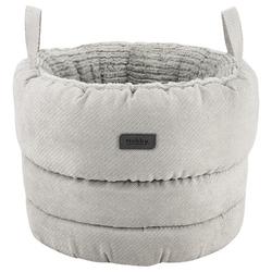 Nobby Komfortkorb rund Lago grau für Hunde