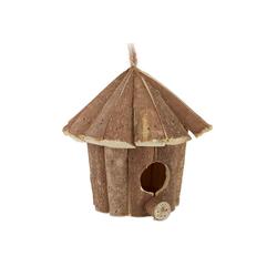 relaxdays Vogelhaus Mini Vogelhaus aus Holz