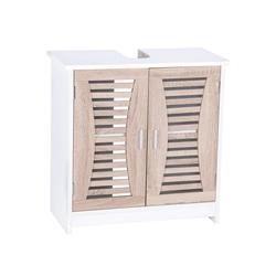 Woltu Waschbeckenunterschrank Waschbeckenunterschrank Badschrank Waschtisch Holz