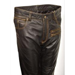 Lederhose als Leder Designer Jeans in ECHT-Leder
